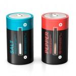 Baterías recargables de sal y pimienta