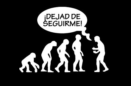 Camiseta cadena de evolución