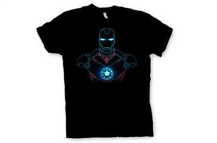 Camiseta silueta Iron Man