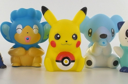 Figuras de pokemon para el baño