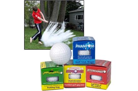 Pack de 4 bolas de golf de broma