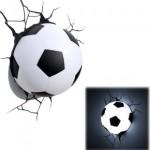 Lámpara balón de fútbol en 3D