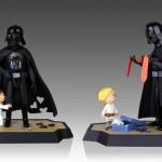 Pack de libros y figuras Darth Vader con Luke y Leia