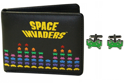 Cartera y gemelos Space Invaders