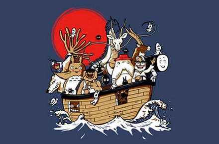 Camiseta Miyazaki's Art