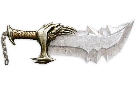 Réplica de la espada de Kratos, God of War