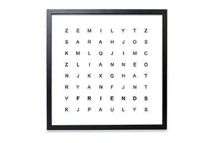 Sopa de letras personalizada