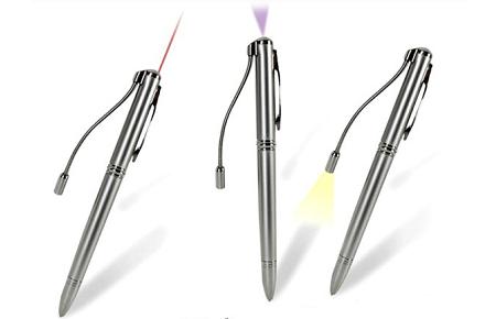 Bolígrafo Geek, 4 en 1
