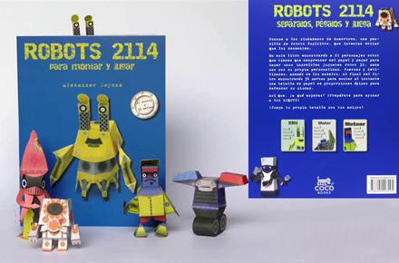 Libro de robots para montar y jugar