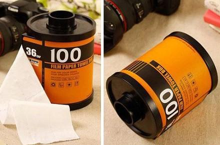 Portarrollos carrete de fotos para el papel higiénico
