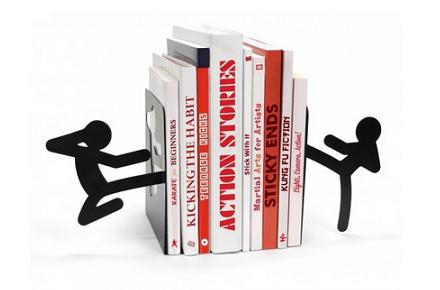 Soporte para libros Stickmen