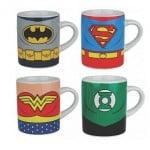 Pack de 4 mini tazas de la Liga de la Justicia