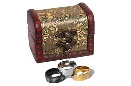 Cofre y tres anillos de Juego de Tronos