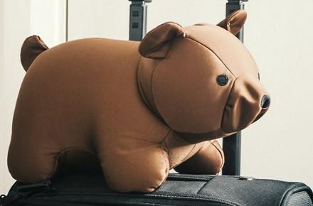 Zip & Flip almohada de viaje en forma de oso
