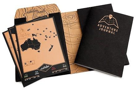 Diario de aventuras con mapas para rascar