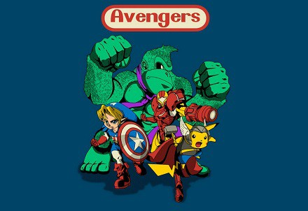 Camiseta «Nintendo Avengers»