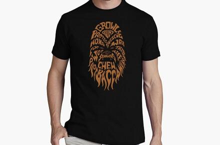 "Camiseta ""Chewbacca tipografía"""