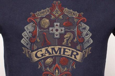 """Camiseta """"Gamer Crest"""""""