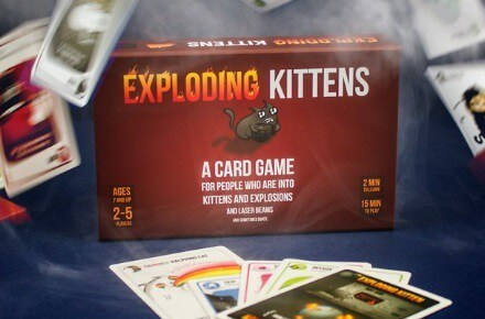 "Juego ""Exploding Kittens"""