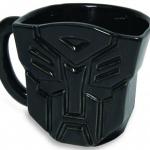 Taza de Transformers con el logo de los Autobots en 3D