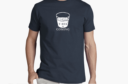 "Camiseta ""T-Rex is coming"""