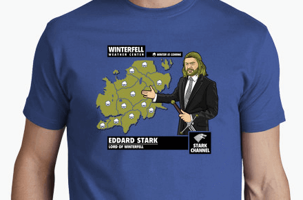Camiseta Ned Stark «Winter is Coming»
