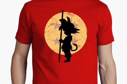 "Camiseta ""Buscando las bolas"" de Dragon Ball"
