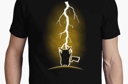 Camiseta Pikachu High Voltage