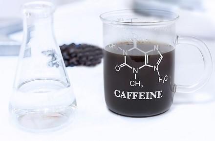 "Taza de cristal ""Molécula de la cafeína"""