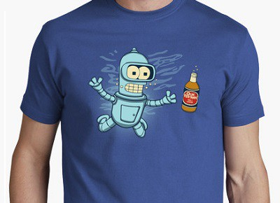 Camiseta de Bender de Futurama: Nebeermind