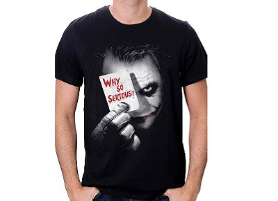 Camiseta Why so Serious Batman