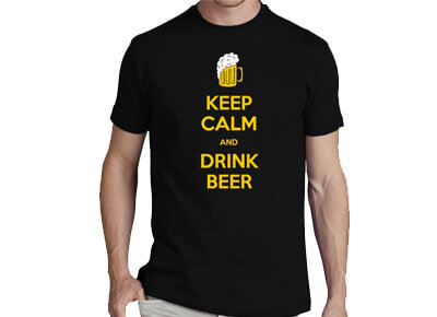 "Camiseta friki ""Keep Calm and Drink Beer"""