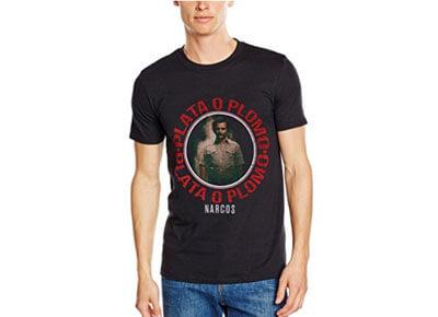 """Camiseta """"Plata o Plomo"""" de Narcos"""