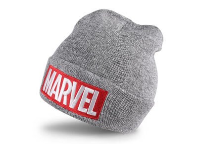 Gorro de Marvel color gris