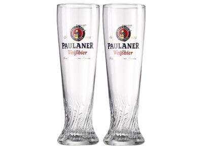 Vaso de cerveza Paulaner