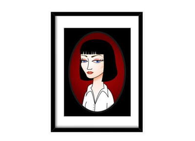 Cuadro Mia Wallace de Pulp Fiction
